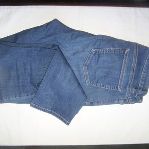 Talbots Curvy Ankle Blue Jeans Size 10 Stretch
